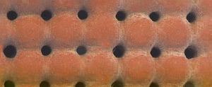 Perforeeritud silikoon vaht – Elastic Silicone Red Perf. 10mm