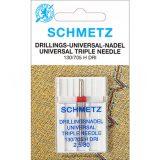SCHMETZ kodu-õmblusmasina kolmiknõel 130/705 DRI, nõelte vahe 2.5 mm