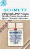 SCHMETZ kodu-õmblusmasina topeltnõelad 130/705 H ZWI, nõelte vahe 4.0 mm