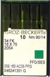 GROZ-BECKERT trikotaazi overloki nõelad 34 FK, 16×75, 2054