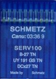 Õmblusmasina nõel B27 TN, DCx27 TN SERV100 (GOLD), SCHMETZ sewing machine needle