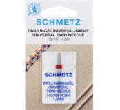 SCHMETZ kodu-õmblusmasina topeltnõelad 130/705 H ZWI, nõelte vahe 1.6 mm, Nr.80