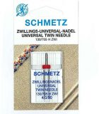 SCHMETZ kodu-õmblusmasina topeltnõelad 130/705 H ZWI, nõelte vahe 4.0 mm, Nr.90