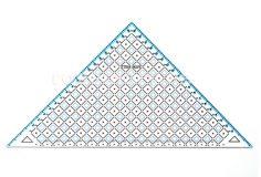 Joonlaud 34219, kolmnurk, Quilting ruler