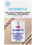 SCHMETZ kodu-õmblusmasina topeltnõelad 130/705 H ZWI, nõelte vahe 4.0 mm, Nr.100